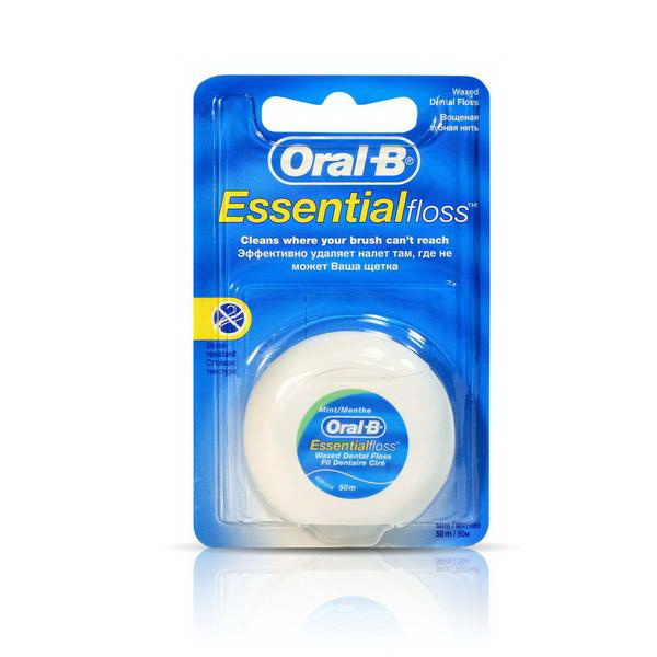 Зубная нить Oral-B Essential мятн вощ 50м N 1