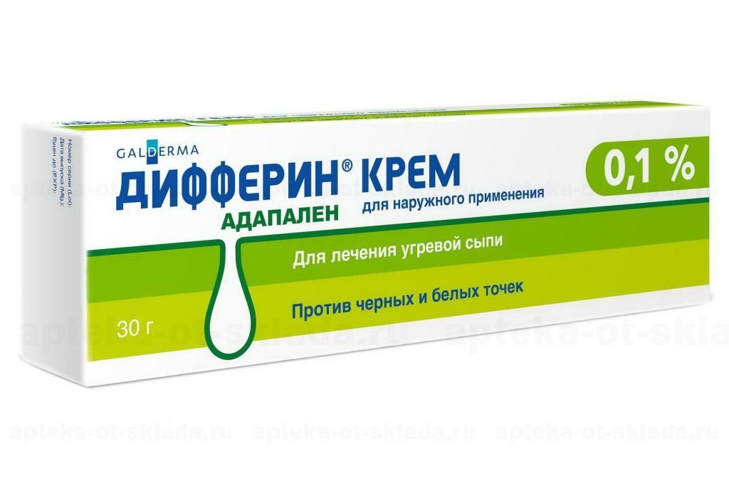 Дифферин крем 0.10г купить, описание и инструкция по применению лекарства, купить Дифферин крем 0.10г заказ на Apteka-ot-sklada.ru