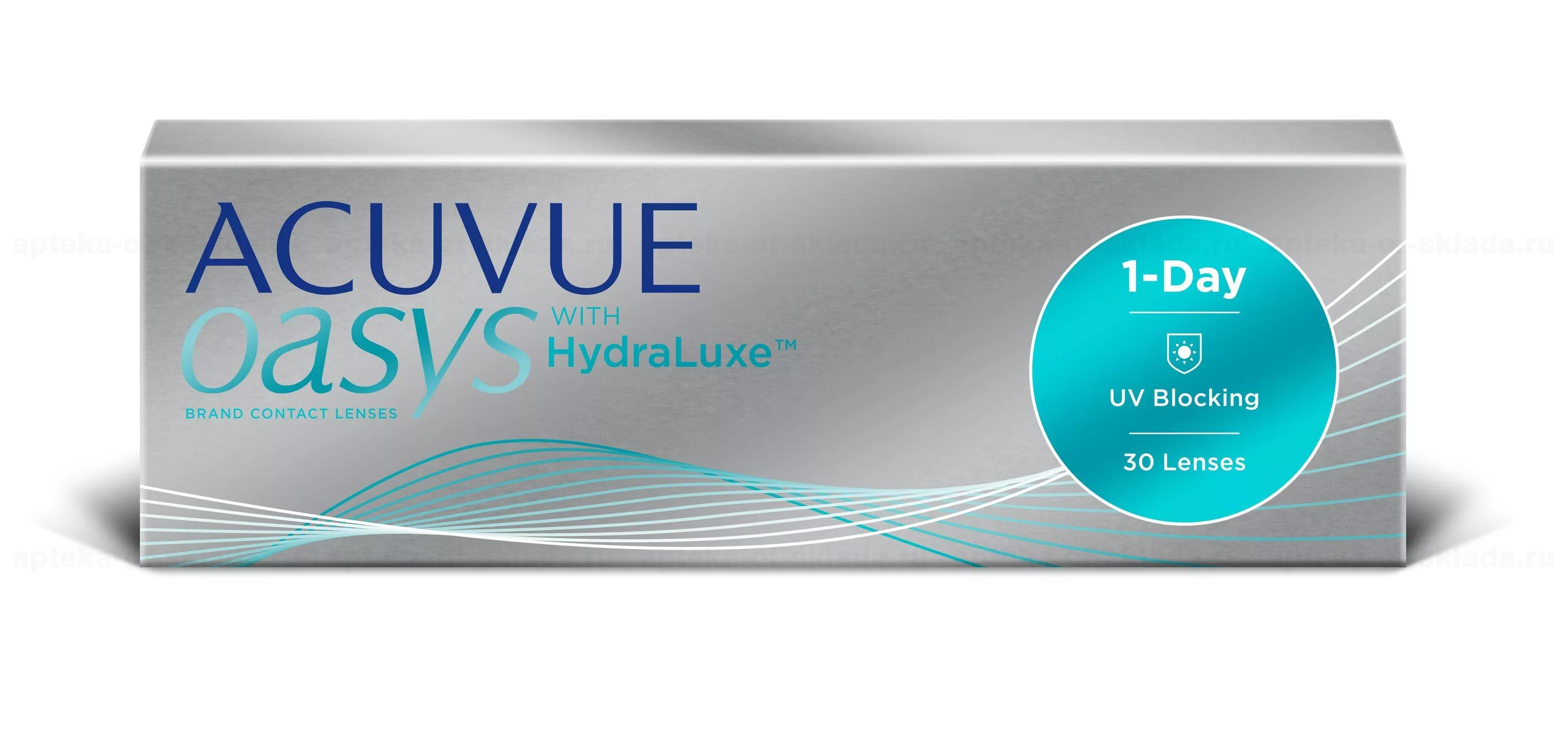 Линзы контактные 1 Day Acuvue OASYS with HydraLuxe 8.5/ -5.75 N 30