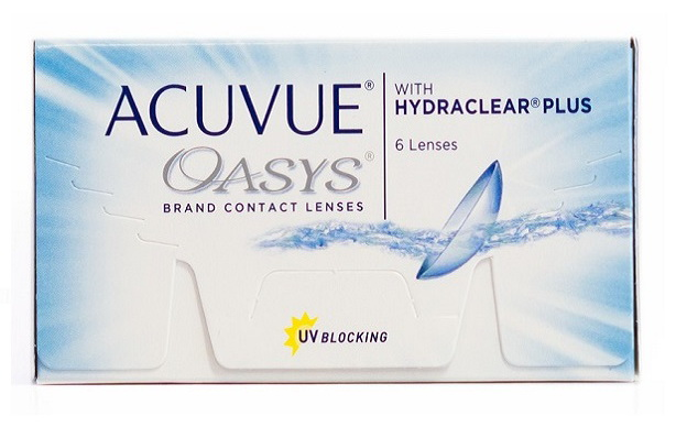 Линзы контактные Acuvue Oasys with Hydraclear plus 8.4/-1.00 N 6