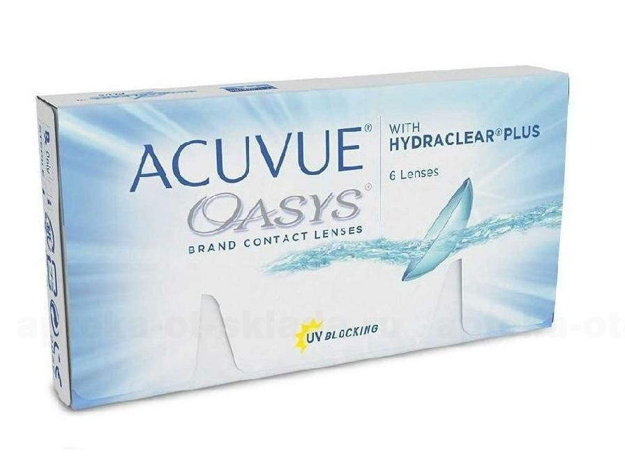 Линзы контактные Acuvue Oasys with Hydraclear plus 8.8/-4.25 N 6