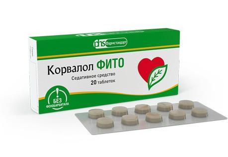 Корвалол Фито тб N 20 купить в Курган, описание и инструкция по применению лекарства, купить Корвалол Фито тб N 20 заказ на Apteka-ot-sklada.ru
