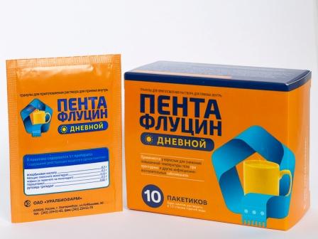 Пентафлуцин дневной гран. Д/приг. Р-ра для приема внутрь 5г пакет.